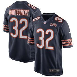Men's Chicago Bears 32 David Montgomery 100 Jersey